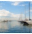 Yachts in harbor vector