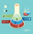 Isometric colorful test tube infographic vector