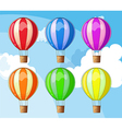 Floating balloons vector