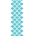 Abstract blue fishscale vertical seamless pattern vector