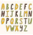 Abc cute alphabet vector