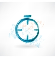 Alarm clock grunge icon vector