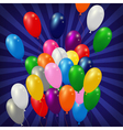 Balloons background blue vector