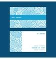Abstract swirls horizontal stripe frame pattern vector