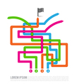 Abstract four color path competition solution way vector
