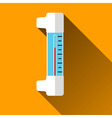Thermometer flat icon with long shadows vector
