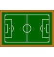 Soccer field scheme vector