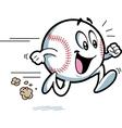 Happy running baseball vector