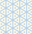 Vintage hexagon and circle pattern on pastel color vector