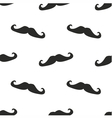 Tile pattern black mustache on white background vector