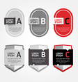 Modern design labels can be used for infographics vector
