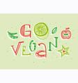 Go vegan vector