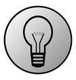 Light bulb button vector