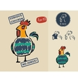 Very serious chicken for prints signs and labels vector
