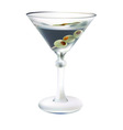 Drink a glass with olives vector