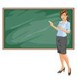 Female teacher vector