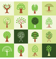 Trees logo icons vector