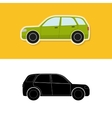Car icon and silhouette vector