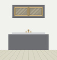 Flat design bathtub in bathroom vector