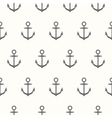 Nautical theme seamless pattern with anchors vector