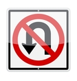 No u-turn sign vector