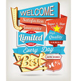 Background with badges and labels vector