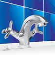 Metal water faucet vector