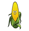 Healthy fresh yellow corn vegetable on the cob vector