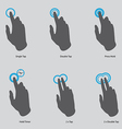 Touch gesture icons vector