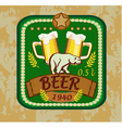 Beer banners on topic with beer vector