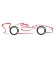 Formula 1 car logo vector