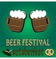 Best traditional fresh cold beer restaurant menu vector