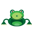 Picture of a smiling frog vector