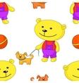Teddy bear with dog vector
