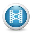 Rewind glossy icon vector