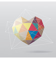 Colorful geometrical heart abstract background vector