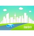 Eco city concept vector