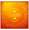 Autumn lettering label design vector