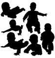 Newborn silhouettes vector