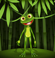 Frog in a jungle vector