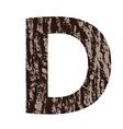 Bark letter d vector