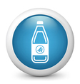 Banana drink glossy icon vector