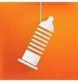 Condom icon health care medical background vector