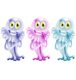 Three colorful jellies vector