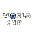 World cup football background vector