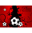 Soccer ball theme vector