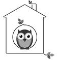 Twig house vector