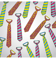 Tie pattern of colors on a gray background vector
