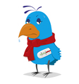 Sick bird vector