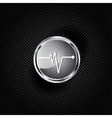 Heart beat cardiogramm pulse icon vector
